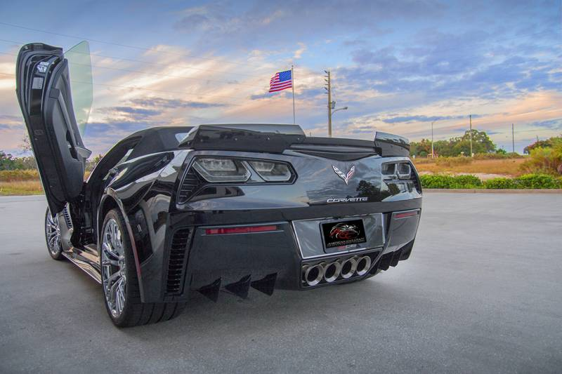 C7 Corvette Z06 Grand Sport 2015 Rear Air Diffuser Fins Stainless Steel Or Carbon