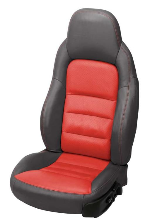 C6 Corvette Leather Seat Covers Two Tone