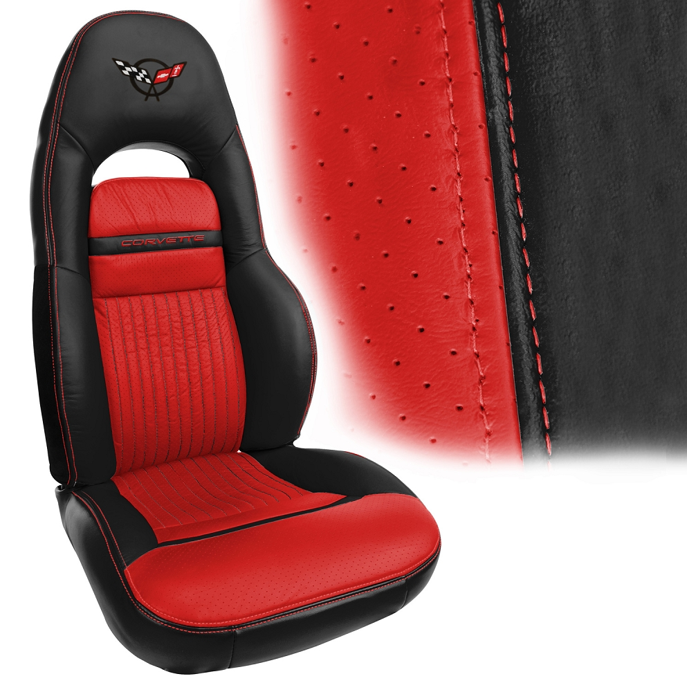 C5 Corvette 1997 2004 Two Tone Leather Seat Covers Sport