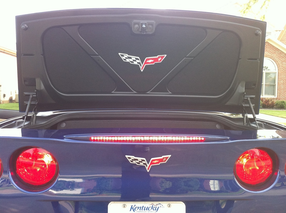 Performance Exhaust Systems >> C5 C6 Corvette 1997-2013 Trunk/Deck Lid Liner Insert Embroidered - Logo Options | Corvette Mods