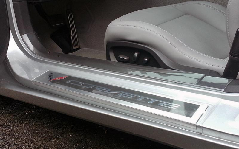 C7 Corvette Stingray/Z06/Grand Sport 2014+ Door Sill Guards - Clear | Corvette Mods