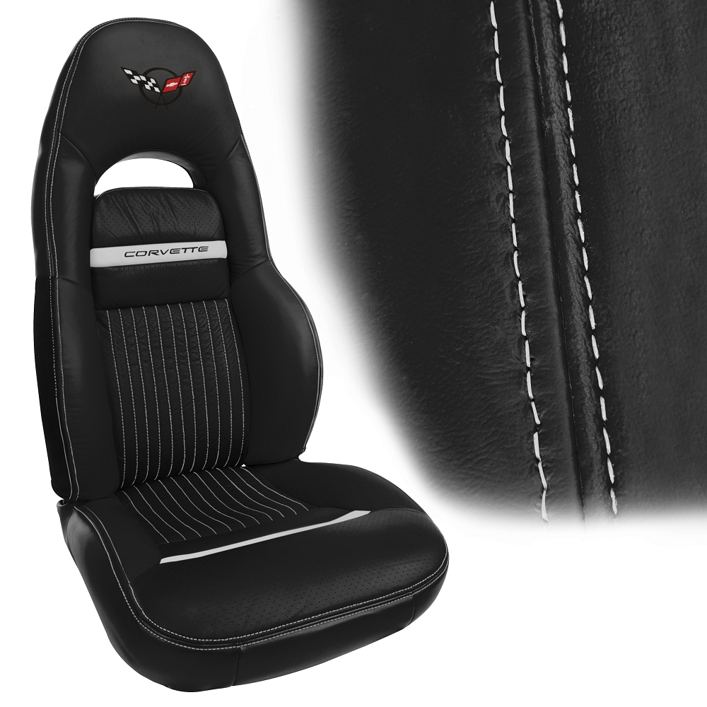 C5 Corvette 1997 2004 Accent Stitch Leather Seat Covers