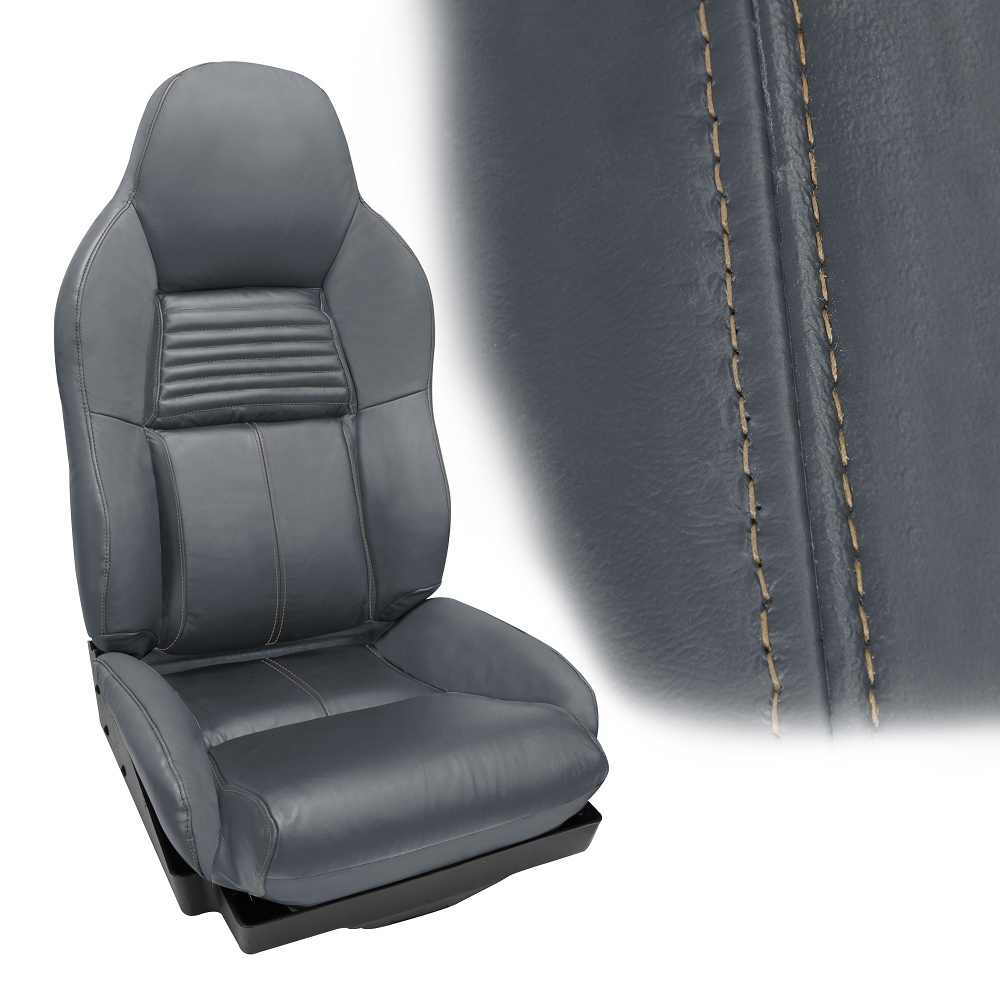 C4 Corvette 1994 1996 Accent Stitched Leather Seat Cover