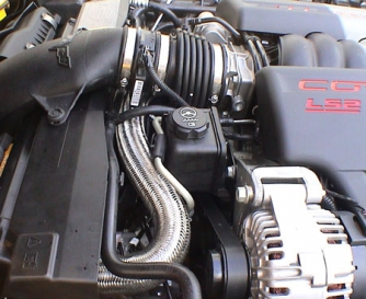 C6    Corvette    20052007 LS2 Top Radiator Hose  Stainless Steel      Corvette    Mods