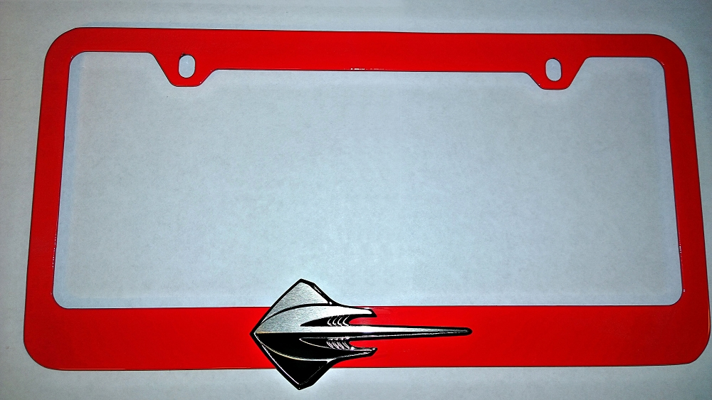 C7 Corvette 2014 Color Matched Painted License Plate