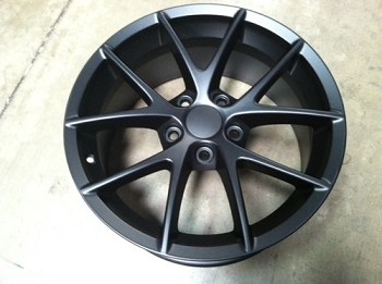 Corvette C6 05-13 Matte Black Spyder Style Wheels Set Of Four 18x9.5/19x10
