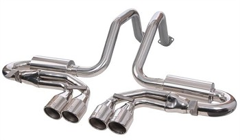 Corvette C5 97-04 Quad Power Axle Back Exhaust