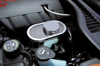 Corvette C6 Perforated Stainless Master Cylinder Cover