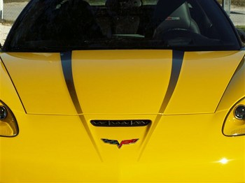 Corvette C6 Hood Graphic Decal - Fade 2pc