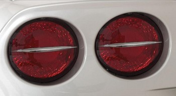 Corvette C6 Taillight Spears 4 Piece Kit Billet Chrome