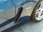 Corvette C6 Side Vent Screens Black Powder Coat Z06