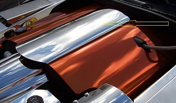 Corvette C6 Polished Plenum Cover
