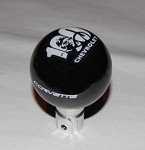 2005-2013 C6 Corvette Shift Knob - Corvette Script & 100th Anniversary Emblem