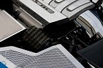 C7 Corvette Stingray 2014+ Hydrocarbon Carbon Fiber Alternator Cover - Perforated