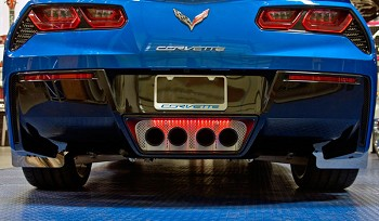 C7 Corvette Stingray 2014+ Illuminated Exhaust Filler Panel - Perforated