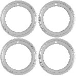 "C3 1968 - 1982 Corvette 15"" Chrome Plated Stainless Steel Deep Dish Wheel Trim Rings"