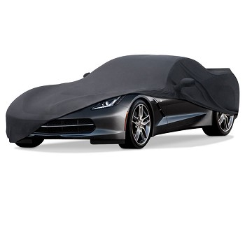C3 C4 C5 C6 C7 Corvette 1968-2014+ Black Stretch Satin Car Cover