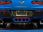C7 Corvette Stingray 2014+ Custom Painted Illuminated Exhaust Filler Panel - Perforated