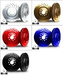C6 Corvette 2005-2013 Drilled and Slotted Chromium Brake Rotors - Set of 4