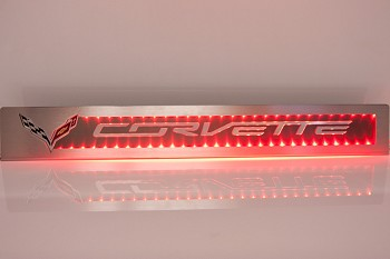 C7 Corvette Stingray/Z51/Z06 2014+ Illuminated Brushed / Polished Stainless Steel Door Sill Overlays