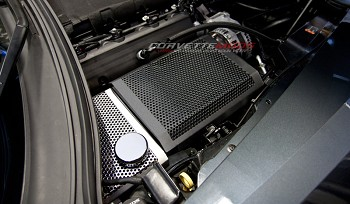 C7 Corvette Stingray/Z51/Z06 2014+ Custom Painted Perforated Stainless Steel Fuse Box Cover