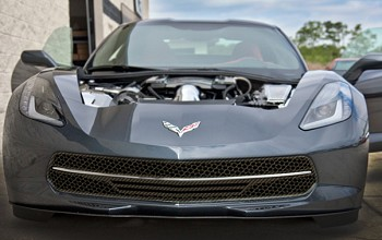 C7 Corvette Stingray 2014+ Hydrocarbon Carbon Fiber Retro Matrix Style Front Grill - 3 Piece