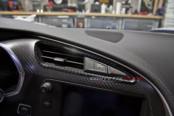 C7 Corvette Stingray/Z06 2014+ Hydro Carbon Fiber A/C Vent Trim 2 Pc