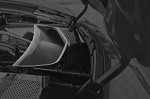 C7 Corvette Stingray 2014+ Hydrocarbon Carbon Fiber Vent Tube Cover - Perforated