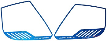 "C7 Corvette Stingray/Z06 2014+ Custom Painted Door Speaker Trim Rings ""Corvette"" Script - 4Pc"