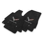 C7 Corvette Stingray 2014+ Lloyd Ultimat Crossed Flags / Corvette Script Floor Mats