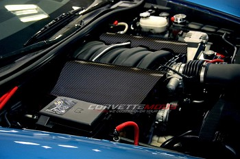 C6 Corvette 2005-2013 Hydro Carbon Fiber Fuel Rail Covers LS2 LS3