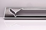 C7 Corvette Stingray 2014+ Carbon Fiber Door Sill Overlay W / Stainless Steel Trim