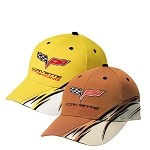 C6 Corvette 2005-2013 Racing Flash Cap - Yellow / Orange