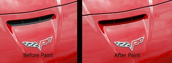 C6 Corvette 2005-2013 Z06 Custom Painted Nose Scoop Insert