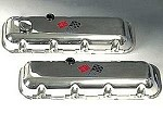 C3 Corvette 1968-1982 Big Block Engraved Valve Cover Crossed Flags Emblem