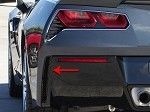 C7 Corvette Stingray 2014+ Hydrocarbon Carbon Fiber Rear Valance Vent Grilles- Matrix