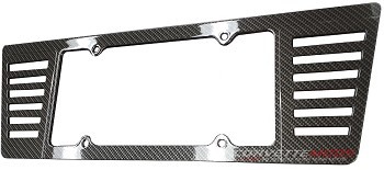 C6 C7 Corvette 2005-2014+ Hydro Carbon Fiber ABS Angled Louvers License Plate Frame
