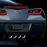 C7 Corvette Stingray/Z06 2014+ Hydro Carbon Fiber Billet License Plate Frame