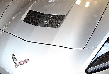 C7 Corvette Stingray 2014+ Hydrocarbon Carbon Fiber External Hood Heat Extractor