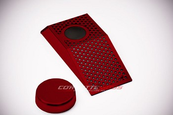 C6 Corvette 2008-2013 Z06 GS Custom Painted Power Steering Reservoir Cover W/Cap - Perforated