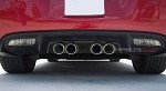 C6 Corvette 2005-2013 Matte Hydro Carbon Fiber Exhaust Filler Panels - All Exhaust Types
