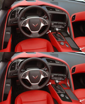 C7 Corvette Stingray 2014+ Custom Painted / Hydrocarbon Fiber Center Console Panel