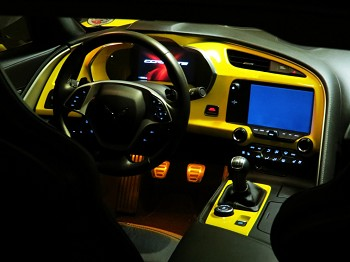 C7 Corvette Stingray/Z06 2014+ Custom Painted Dash Cluster Panel