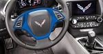 C7 Corvette Stingray 2014+ Custom Painted Steering Wheel Trim Bezel