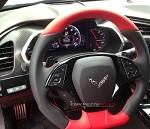 C7 Corvette Stingray/Z06 2014+ Hydro Carbon Fiber Steering Wheel Trim Bezel