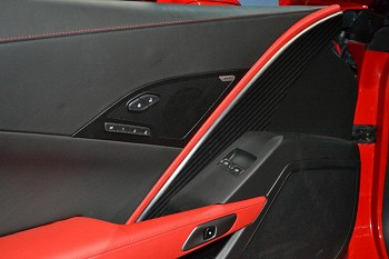 C7 Corvette Stingray 2014+ Hydrocarbon Carbon Fiber Drivers Side Door Panel Insert