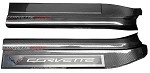 C7 Corvette Stingray/Z06 2014+ Hydro Carbon Fiber Door Sill Guards