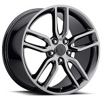 C7 Corvette Stingray Black Chrome OEM Style Z51 Wheels - Fitment For C5 1997-2004 17x8.5 / 18x9.5