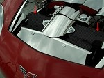 C6 Corvette 2005-2007 / 2006-2013 Z06 Hydrocarbon Carbon Fiber Radiator Cover - 2Pc
