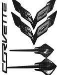 C7 Corvette Stingray 2014+ Hydro Carbon Fiber Emblem Package